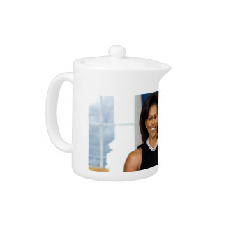 Official Portrait of First Lady Michelle Obama Teapot