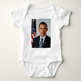 Official Portrait of president Barack Obama Baby Bodysuit