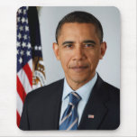 Official Portrait of president Barack Obama Mouse Pad