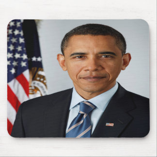 Official Portrait of president Barack Obama Mouse Mat