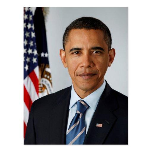 Official Portrait of president Barack Obama Postcard