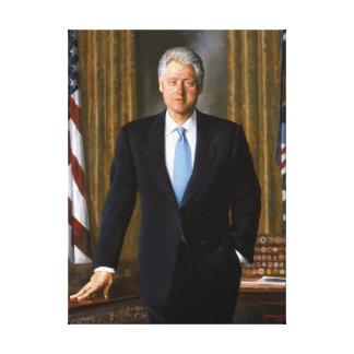 Official Presidential Portrait Bill Clinton Canvas Print