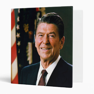 Official Presidential Portrait of Ronald Reagan 3 Ring Binder