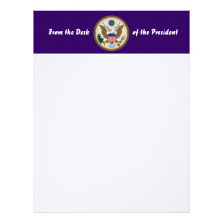 Official Presidential Seal Letterhead