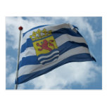 Official province of Zeeland Flag Photo Card Postcards