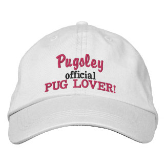 Official Pug Lover Embroidered Hat