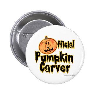 Official Pumpkin Carver Halloween Button