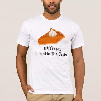 Official Pumpkin Pie Tester T Shirt