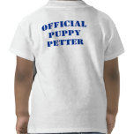Official Puppy Petter Toddler Tshirts