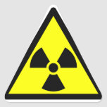 Official radioactive trefoil symbol sticker