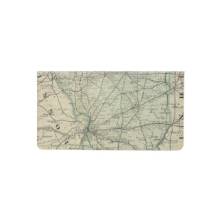 Official railroad map of Illinois Checkbook Cover