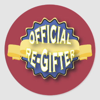 Official Re-Gifter Classic Round Sticker