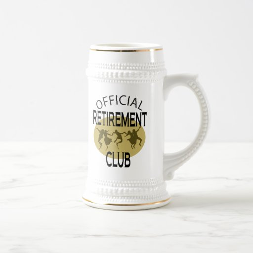 Official Retirement Club 18 Oz Beer Stein