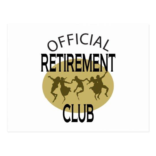 Official Retirement Club Postcard