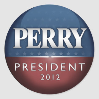 Official Rick Perry 2012 Classic Round Sticker