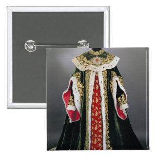 Official robes of the Hungarian 2 Inch Square Button