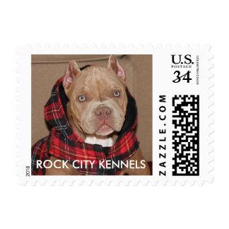Official ROCK CITY KENNELS Postage Stamp