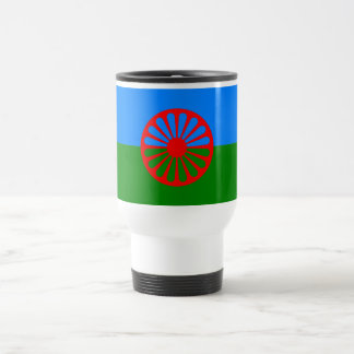 Official Romany gypsy flag 15 Oz Stainless Steel Travel Mug