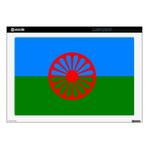 """Official Romany Gypsy flag 17"""" Laptop Skin"""