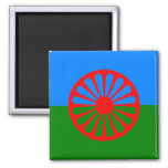 Official Romany gypsy flag 2 Inch Square Magnet