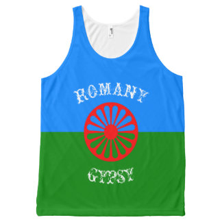 Official romany gypsy flag All-Over print tank top