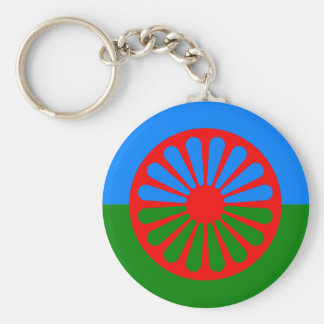Official Romany gypsy flag Basic Round Button Keychain