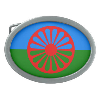 Official Romany gypsy flag Belt Buckle