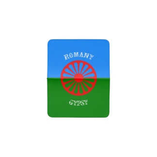 Official romany gypsy flag business card holder