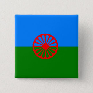 Official Romany gypsy flag Button