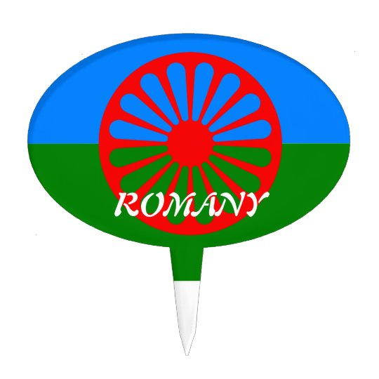 Official Romany gypsy flag Cake Topper