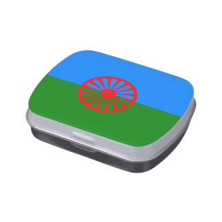 Official Romany gypsy flag Candy Tin