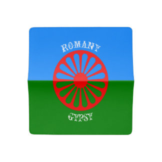 Official romany gypsy flag checkbook cover