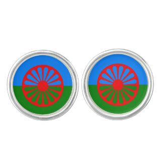 Official Romany gypsy flag Cufflinks