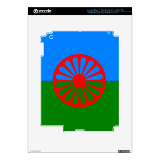 Official Romany Gypsy flag Decals For iPad 3