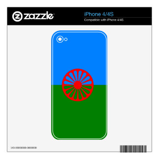 Official Romany gypsy flag Decals For iPhone 4