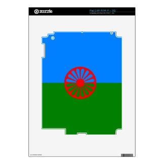 Official Romany gypsy flag Decals For The iPad 2