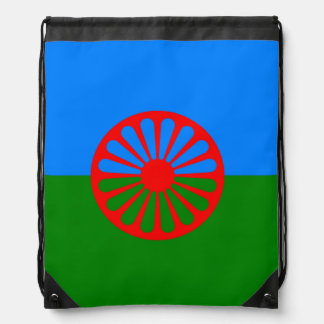 Official Romany gypsy flag Drawstring Bag