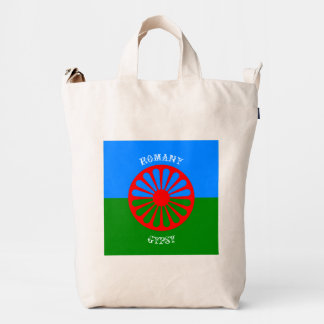 Official romany gypsy flag duck canvas bag