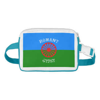 Official romany gypsy flag fanny pack