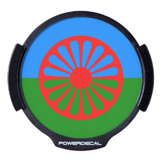 Official Romany gypsy flag LED Car Decal