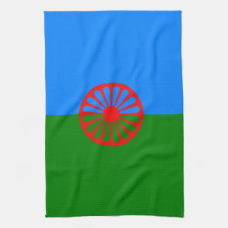 Official Romany gypsy flag Kitchen Towel