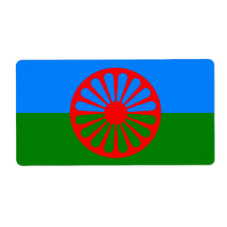 Official Romany gypsy flag Labels