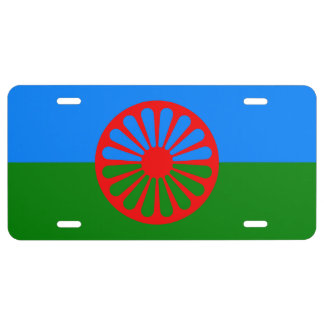 Official Romany gypsy flag License Plate