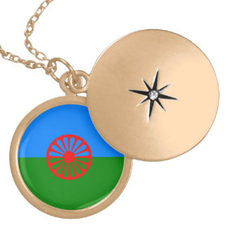 Official Romany gypsy flag Locket Necklace