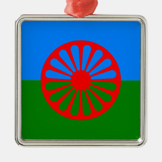 Official Romany gypsy flag Metal Ornament