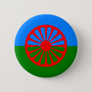 Official Romany gypsy flag Pinback Button