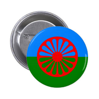 Official Romany gypsy flag Pins