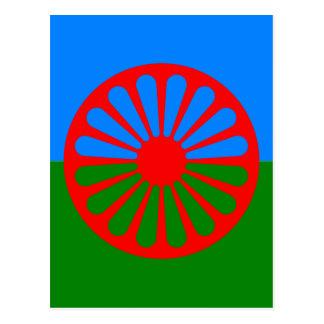 Official Romany gypsy flag Postcard