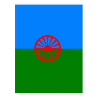 Official Romany gypsy flag Postcard
