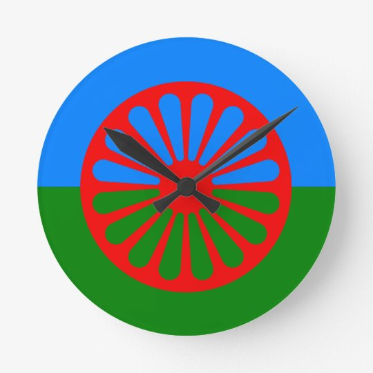 Official Romany gypsy flag Round Clock